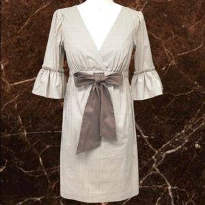 🤎BCBGMAXAZRIA Stripe Bell Sleeve Dress,